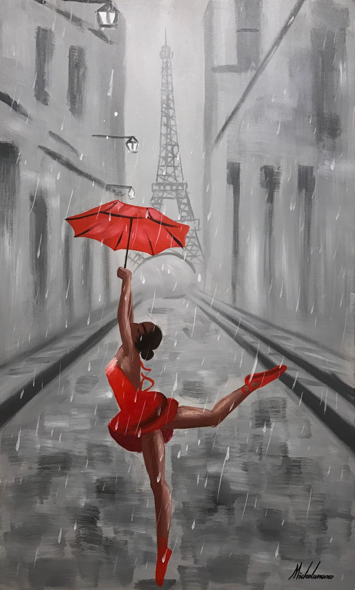 dancing in the rain art store house art paintings. Black Bedroom Furniture Sets. Home Design Ideas