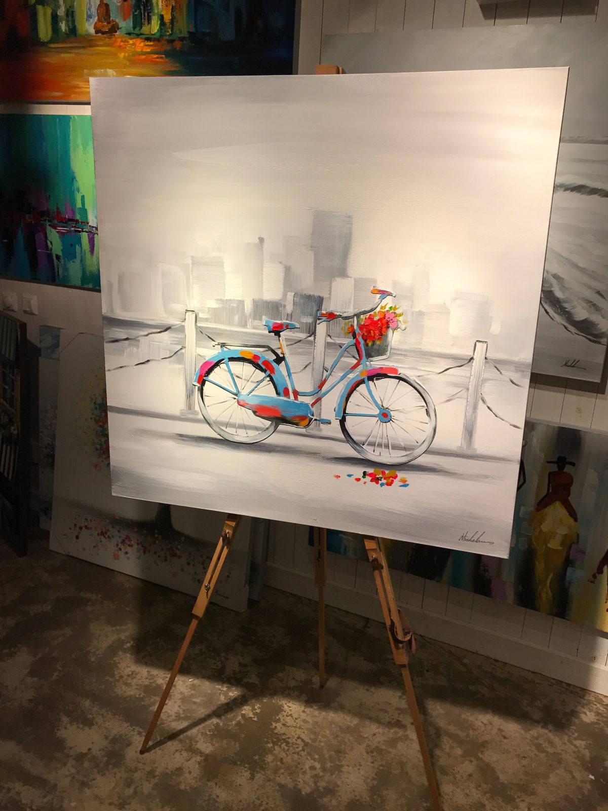 pedal to the metal art store house art paintings